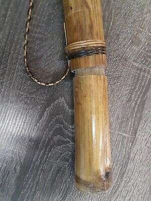 Antique Asian Blow Dart or Arrow Quiver Bolo Holder w/ darts Philippines tribal