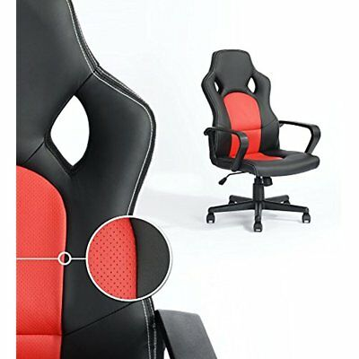 Executive Racing Style Office Chair PU Leather Swivel Computer Desk Seat Gaming