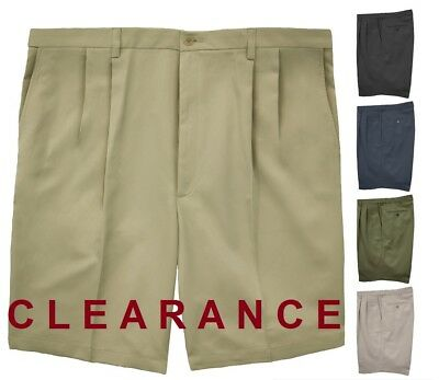 db4d6d62f6 CLEARANCE Big & Tall Men's PLEATED Casual Shorts by Haggar #661