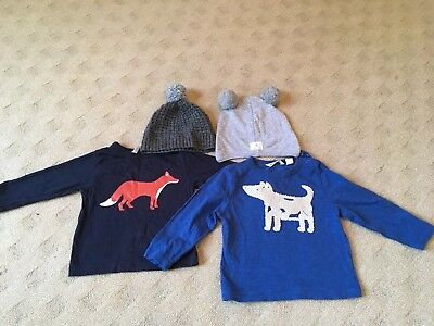 Country Road Baby Boy Bulk T Shirts And Beanies 3-6 Months
