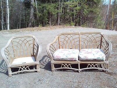 "Vintage ""lane"" Bamboo/rattan  Couch & Chair Frames"
