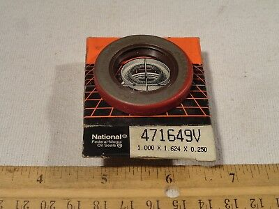 Federal Mogul National 471649V Oil Grease Seal 1.000 x 1.624 x 0.250