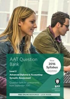 AAT Advanced Diploma in Accounting Level 3 Synoptic Assessment: Question Bank...