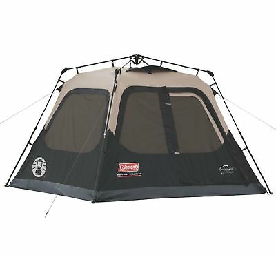 Coleman Outdoor Family Camping 4-Person Instant Tent 8 x 7 Feet (Open Box)