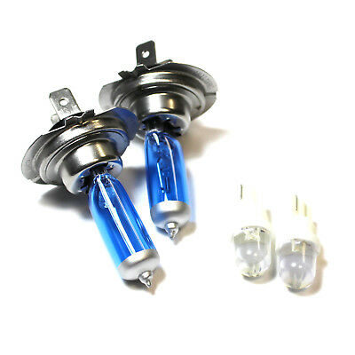 Fits Nissan Interstar 55w ICE Blue Xenon HID Low Dip/LED Trade Side Light Bulbs