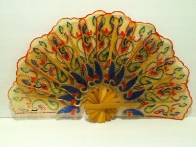 Vintage Large Hand Held Fan Japanese/chinese