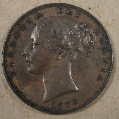 Great Britain 1858 Farthing Better Circulated Grade