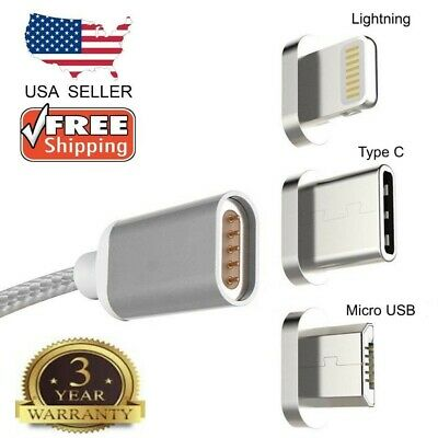 Micro USB Port Magnetic Adapter Charger For iPhone IOS Android Type C USB Cable