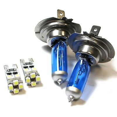 Audi A2 8Z0 100w Super White Xenon HID High//Low//Side Headlight Bulbs Set