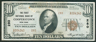 Cooperstown NY National Bank Note, Series 1929