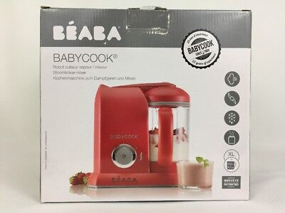 Beaba Babycook Baby Food Maker Steam Cooker Blender In One Red