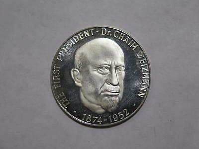 Israel Commemorative Medal First President C. Weizmann World Coin Collection Lot