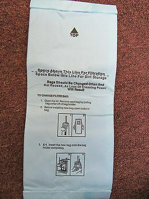 6 Vacuum Bags fit Panasonic U, U3 & U6. Micron Dual Layer Allergy Filtration