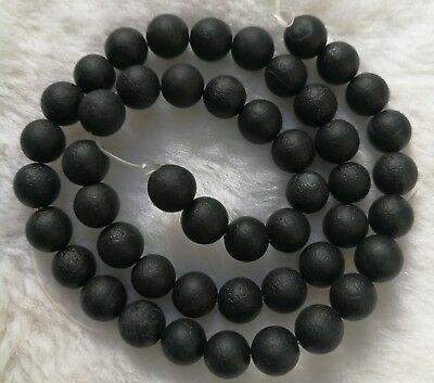 """Black Matte Agate Round Loose Beads  6mm 8mm 10mm 12mm 14mm 14.5"""""""