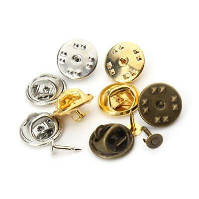50 Sets Butterfly Pinch Clutch Badge Insignia Clutches Pins Backs Tie Tacks