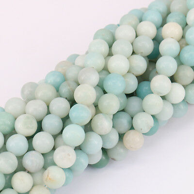 Lots Natural Blue Amazonite Gemstone Round Spacer Loose Beads Craft 4/6/8/10MM