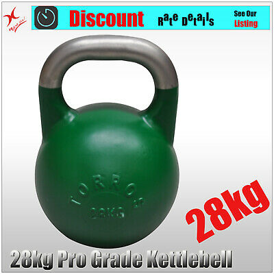 28kg TORROS Pro Grade Kettlebell Weight - Gym Use - Cross Fit Strength Training
