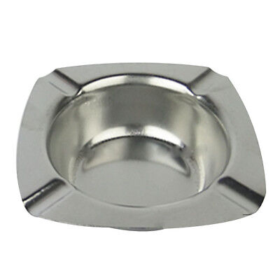 5X(Stainless Steel Ashtray 124mm. D6S7)