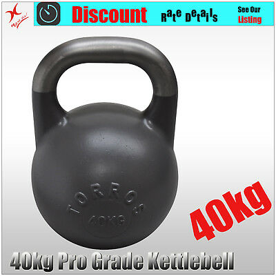 40kg TORROS Pro Grade Kettlebell Weight - Gym Use - Cross Fit Strength Training