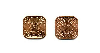 Suriname Uncirculated Coin Trio, 1 To 10 Cents