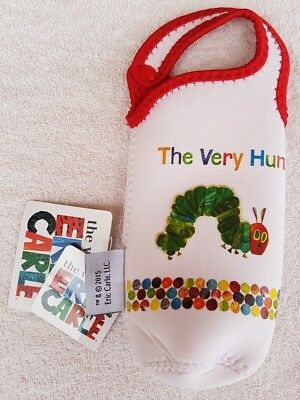 The Very Hungry Caterpillar Neoprene Single Drinking Bottle Bag Thermal Sleeve