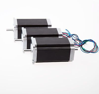 3 pcs Stepper motor Nema 23, 4 leads, bipolar, 425 oz.in=3NM dual shaft CNC