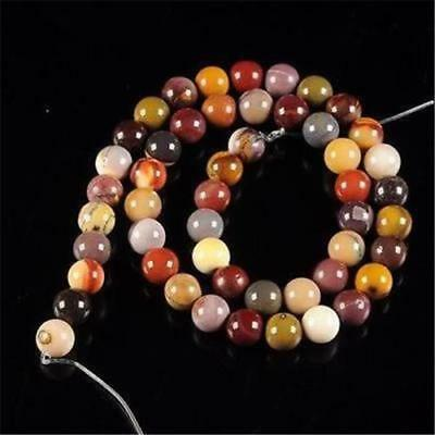 Nature 8mm Mookaite Jasper Round Loose Beads Gemstone 15''##HK1001