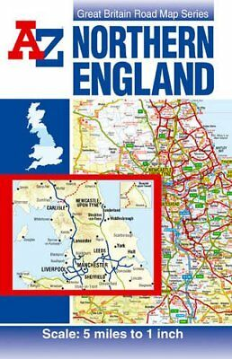 Northern England Road Map (A-Z Road... by Geographers A-Z Map  Sheet map, folded