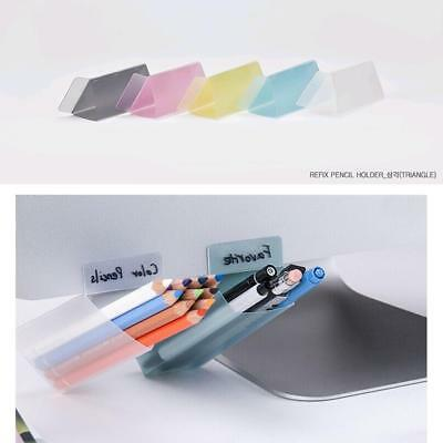 Stick on Desktop Office Contain Plastic Desk Organizer Storage Pen Pencil-Holder