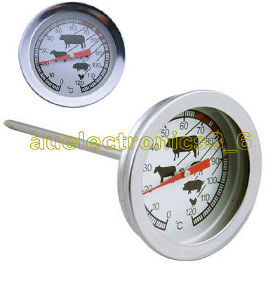 Stainless Steel Instant Read Probe Thermometer BBQ Food Cooking Meat Gauge AU