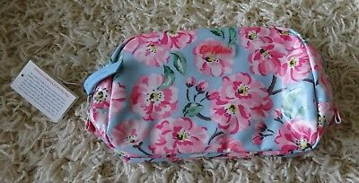 Cath Kidston Makeup bag and mirror Brand new - Blossom Bunch Sky Blue