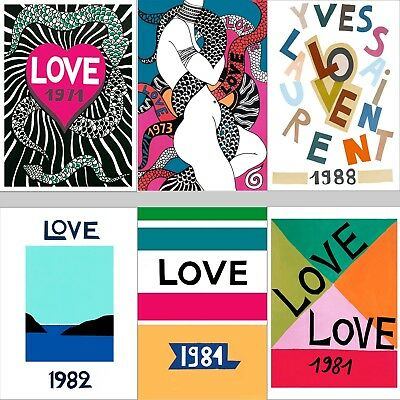 LOVE POSTERS: 1970s, 1980s, 1990s, YSL Homage Prints