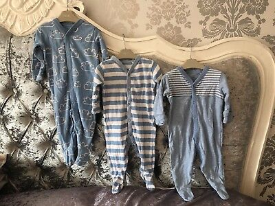 Next Sleepsuits 3-6 Months X 3 Baby Boy excellent condition 💙