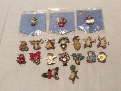 Charming Tails Collector Pins (lot of 18, one signed by Dean Griff & dated 1998)