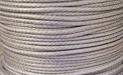 4mm X 100M Silver Dyneema® Fiber Synthetic Winch/ yacht rope tensile:1900kg- NEW