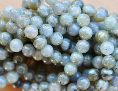 "Natural Moonstone Gemstone Round Beads For Jewelry Making 15""6mm"