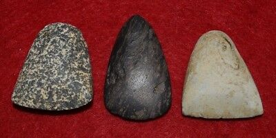 3 very fine and polished Sahara Neolithic small celts