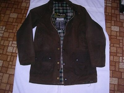 Barbour Bedale Waxed Cotton Jacket Size 32 Sage/Olive