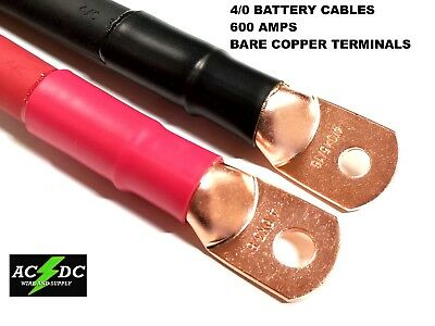 4/0 AWG GAUGE Copper Battery Cable Power Wire Car, Inverter, RV ...