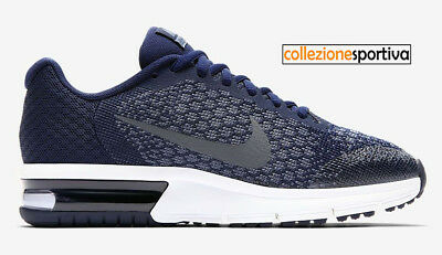 NIKE Air Max Sequent 2 GS Blue Sneakers Junior Art.869994 005 Scarpe Casual Tela