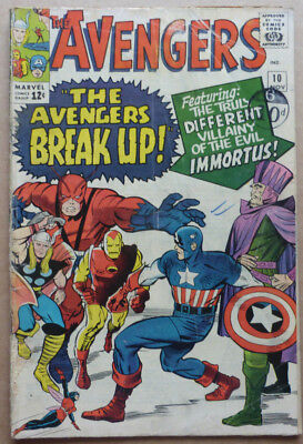 The Avengers #10, Original Silver Age Marvel Classic, 1964.