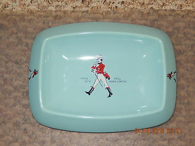 Vintage Johnnie Walker Scotch Whisky Ashtray, WADE Turquoise Ceramic 1960's