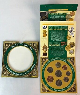 1999 Great Britain 2 Pound UK Brilliant Uncirculated Rugby Championship Coin Set