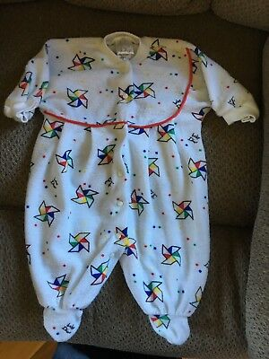 Vintage Baby Dior Terry Sleeper Size Small