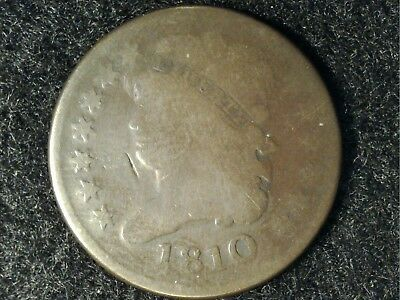 1810 US Half Cent #2 in Low Grade - OK appearance (Nice Brown)