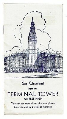 1940s TERMINAL TOWER, CLEVELAND HOTEL, HIGBEE'S DEPARTMENT STORE 10 pg brochure