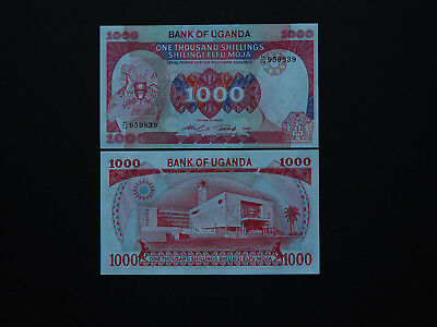 Uganda Banknotes Brilliant 1000 Shillings Large note with great artwork MINT UNC