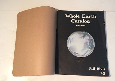 Fall 1970 Whole Earth Catalog Access To Tools Counterculture Hippies