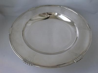 Smart Stylish Solid Sterling Silver Centrepiece Dish 1940/ Dia 24 cm/ 422 g