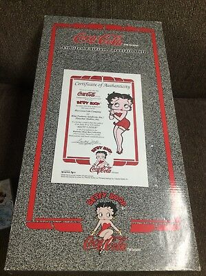Coca Cola Porcelain Betty Boop Doll In Original Package